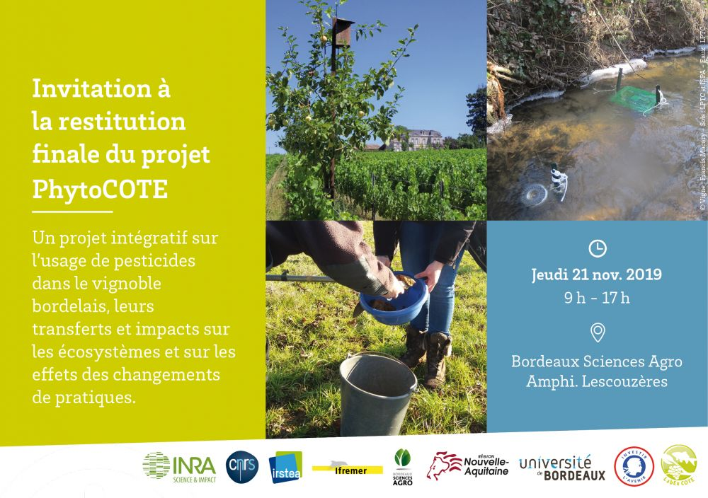 [SAVE THE DATE] Restitution finale du projet PhytoCOTE
