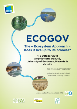"Conférence ECOGOV - The ""Ecosystem Approach"" does it live up to its promise?"